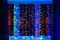 Гирлянда Занавес 200 1,8 х 1,8 м, LED, прозрачная