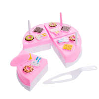 Игрушечная посуда мини тортик для резки, с аксессуарами