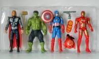 Игровой набор супер герои Мстители (Железный человек, Халк, Капитан Америка, Тор) 24 см