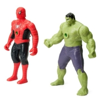 Игровой набор супер герои (халк + человек паук) с проектором