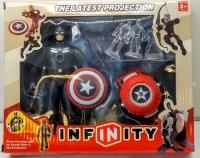 Игровой набор Супер герои (Капитан Америка + проектор)