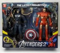 Игровой набор супер герои (Капитан Америка и Железный человек) с проектором