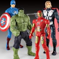 Игровой набор Супер герои Мстители 4 в 1, 26 см.(Железный человек, Тор, Капитан Америка, Халк)
