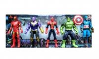 Игровой набор Супер герои Мстители 5 в 1 (Железный человек, Танос, Капитан Америка, Халк, Человек Паук)