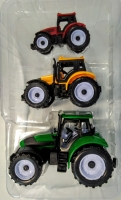 Игровой набор трактор инерционный 3 шт (Супер ферма)
