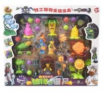 Игровой набор Зомби против растений из 7 растений, 4 зомби и шариков