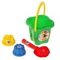 Игрушки для песочницы Щенячий патруль набор для игры с песком Команда друзей 4 предмета