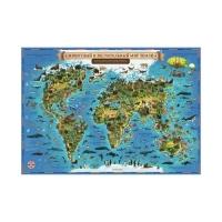 Интерактивная карта Мира для детей Животный и растительный мир Земли АКЦИЯ!