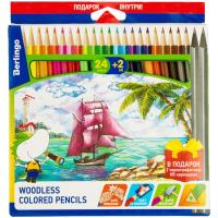 Карандаши цветные 24 цвета Berlingo