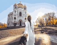 Картина по номерам 40 х 50 ZX 20679 Следуй за мной. Кронштадтский собор