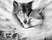 Картина по номерам 40 х 50 ZX 21676 Волчья нежность