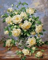 Картина по номерам 40 х 50 ZX 22820 Белые розы