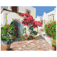 Картина по номерам 40 х 50 ZX22118 Греческая улочка