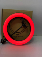 Кольцевая светодиодная RGB LED лампа со штативом 32 см WH32