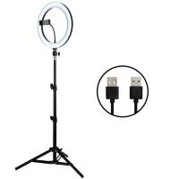 Уценка! Кольцевая светодиодная LED лампа со штативом 36 см