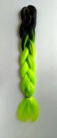 Конекалон коса 2 цвета черный зеленый