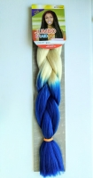 Конеколон коса Jumbo Braid цвет М33 белый синий