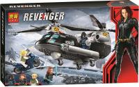 Конструктор Погоня на вертолёте Чёрной вдовы Super Heroes 11508 АКЦИЯ