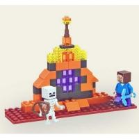 Конструктор Лего Bela Minecraft Стив и Скелет 10189, 61 дет
