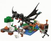 Конструктор Лего Нападение черного дракона My world 11265, 283 дет