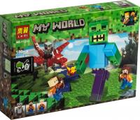 Конструктор Лего Lari My world 11263 Атака Зомби на Красном Драконе