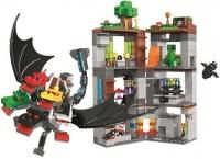 Конструктор Лего Lego LELE 11268 Minecraft Нападение пятиглавого дракона, 580 дет