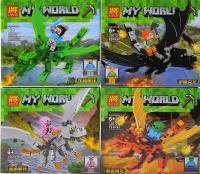 Конструктор Лего My world Герои на драконах 33072 33074 11272