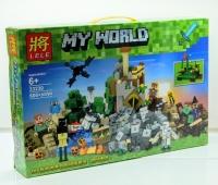 Конструктор Лего Lego LELE 33230 Майнкрафт Падение башни 600+ дет.