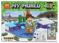 Конструктор Лего Lego LELE 33263 Minecraft Зима