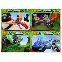 АКЦИЯ! Конструктор Лего Lego Lezi 93083 minecraft Герои на драконах