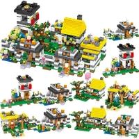 Конструктор Лего Lego Майнкрафт деревня 7 в 1 LXA060 1345+ дет