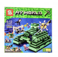 Конструктор Лего Подводная крепость SY 970 my world мой мир 1144 дет