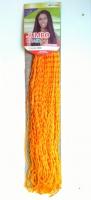 Косички зизи сенегальская гофре оранжевый