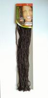 Косички зизи сенегальская прямая коричневая