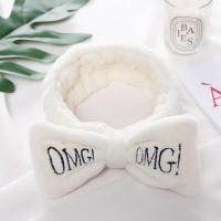 Косметическая повязка для волос OMG белая