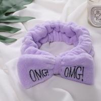 Косметическая повязка для волос OMG фиолетовая