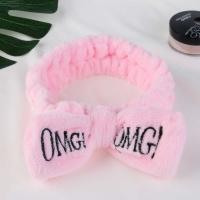 Косметическая повязка для волос OMG розовая