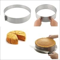 Круглая регулируемая кулинарная форма для слоеных блюд (24-30 см) АКЦИЯ!