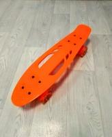 Скейтборд круизер оранжевый (колеса светятся)