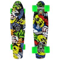Скейтборд круизер детский R2206 граффити