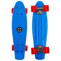Скейтборд круизер синий (колеса светятся)