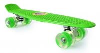 Скейтборд круизер зеленый (колеса светятся)