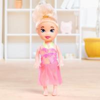 Кукла малышка цветные волосы