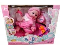 Кукла пупс интерактивная Little baby с ванной