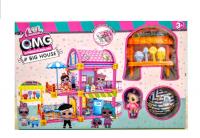 Кукольный дом кофейня OMG с шаром и куколкой АКЦИЯ