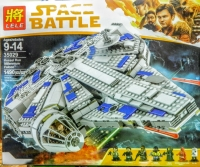 АКЦИЯ! Конструктор Lego Лего Lele 35029 Space Battle Сокол Тысячелетия на Дуге Кесселя, 1490 дет