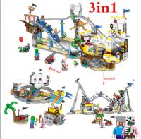 Конструктор Лего Lego Minecraft LELE 33222 Парк развлечений 3в1, 956 дет.