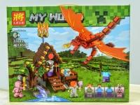 Конструктор Лего LEGO LELE 33223 Нападение красного дракона, 461 дет.