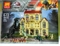 АКЦИЯ! Конструктор Лего Lego LELE 39118 Нападение индораптора в поместье Локвуд
