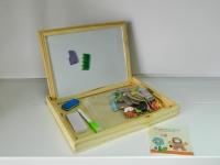 АКЦИЯ!  Доска для рисования+ набор магнитных игрушек 93-47-2